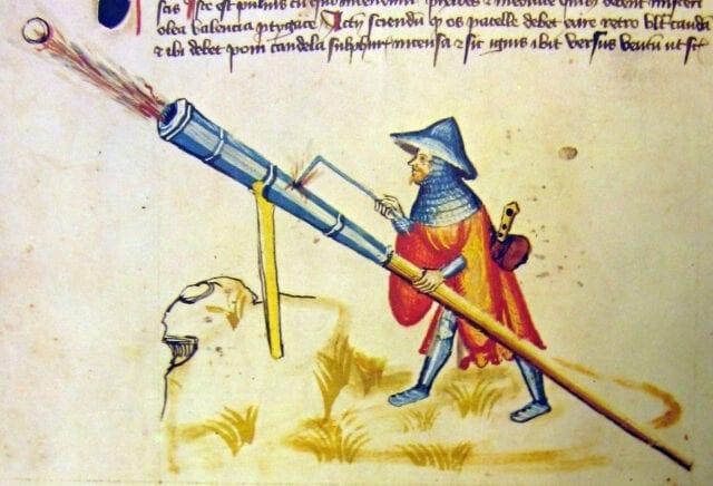 Zeitgenössische Abbildung einer Fausfeuerwaffe